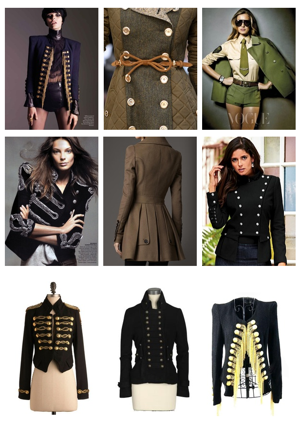 military jacket women | ... Men and Women in Spring 2013 Military ...
