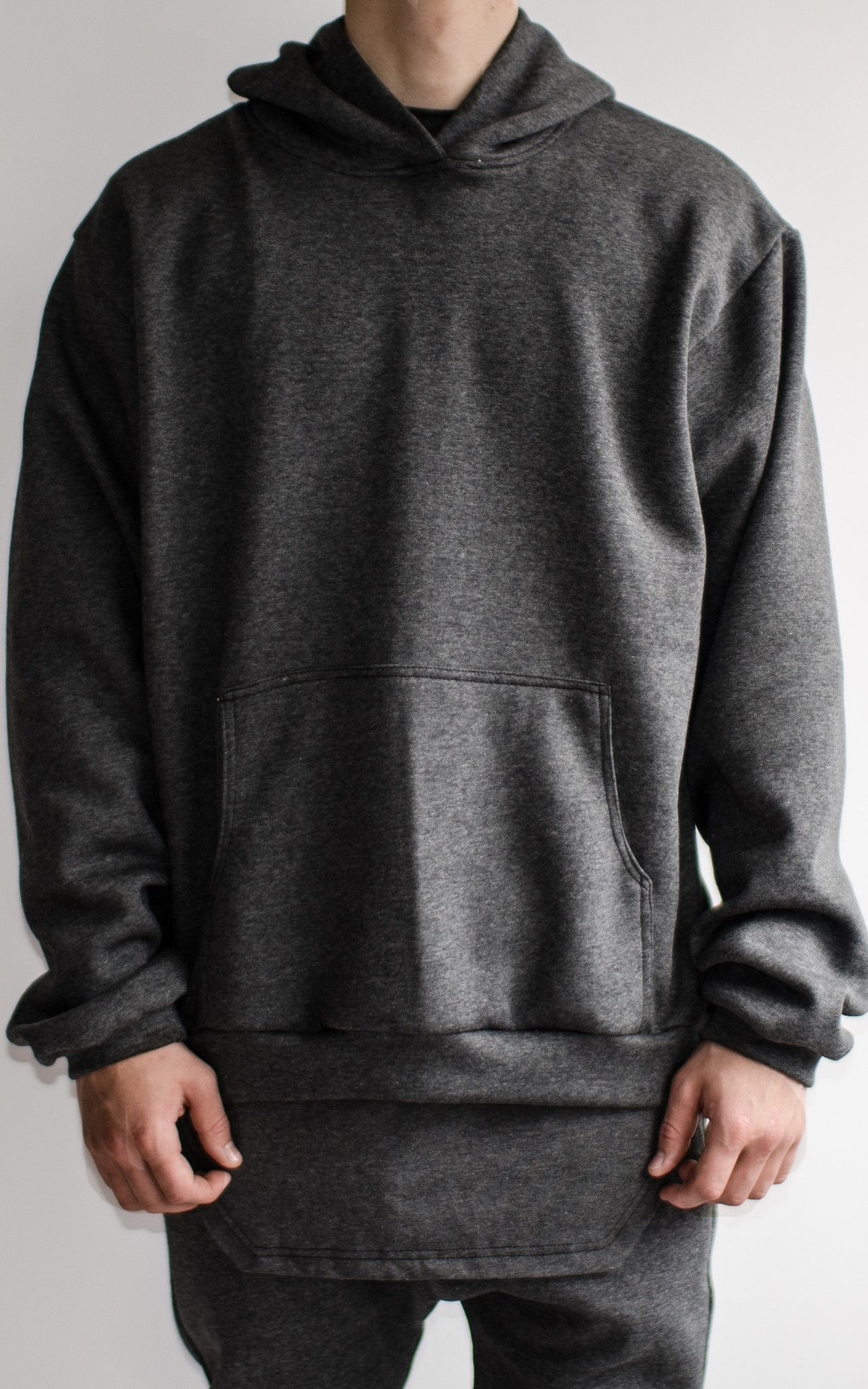 DARK GREY PULLOVER HOODIE The epitome of comfort, the Flannel ...