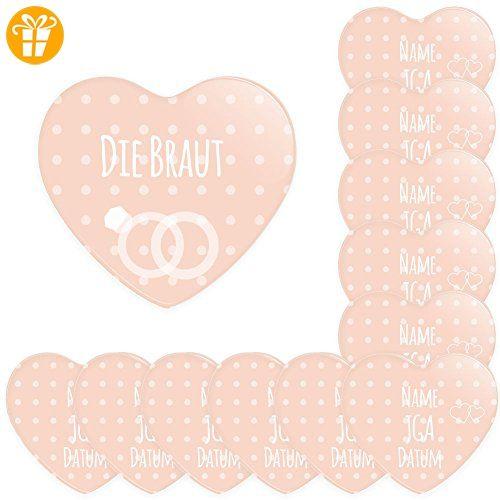 12er SET personalisierbare Buttons für feierliche Anlässe - Hochzeit - JGA - Trauung - Taufe - Geburtstag (38mm) Motiv 7 - Shirts zum geburtstag (*Partner-Link)