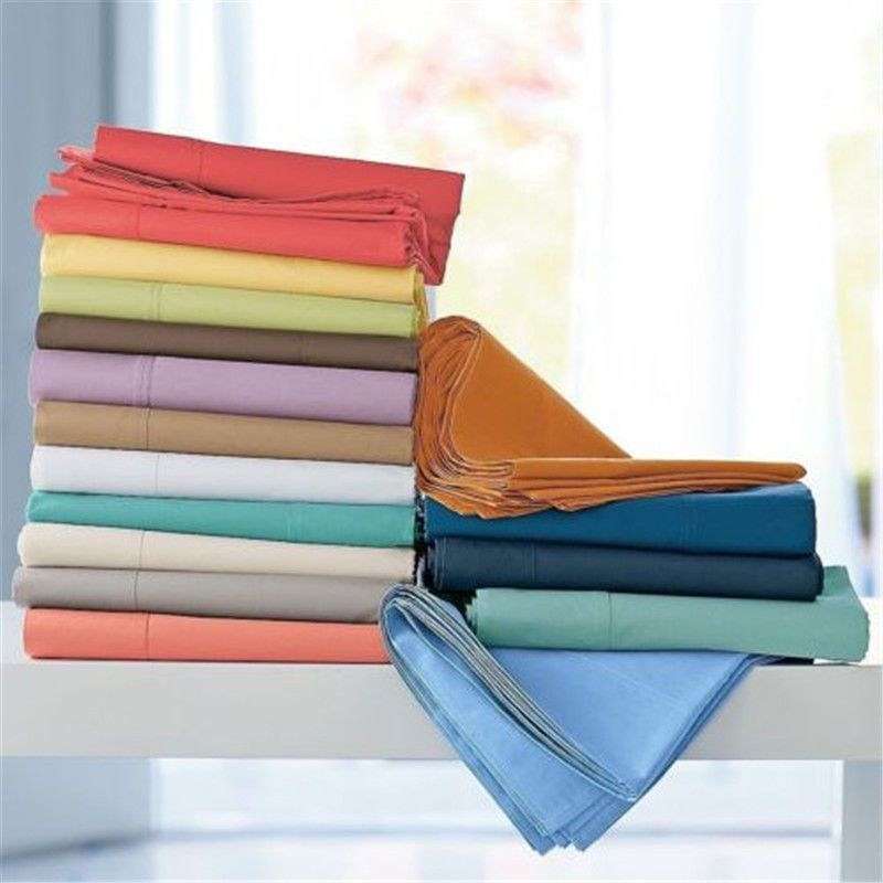 Extra Deep Pocket 1pc Fitted Sheet 1000TC Egyptian Cotton Solid Colors King Size