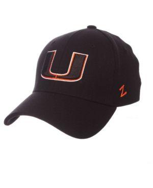 cheap for discount 6b9d4 dd152 Zephyr Miami Hurricanes Finisher Stretch Cap - Black Orange S M