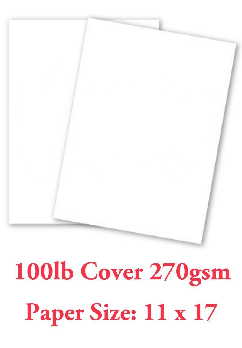 Amazon Com White Card Stock Paper 11x17 Heavyweight 100lb Cover 270gsm 100 Pk By Superfine Printing Inc Office Pr Cardstock Paper Paper Card Stock