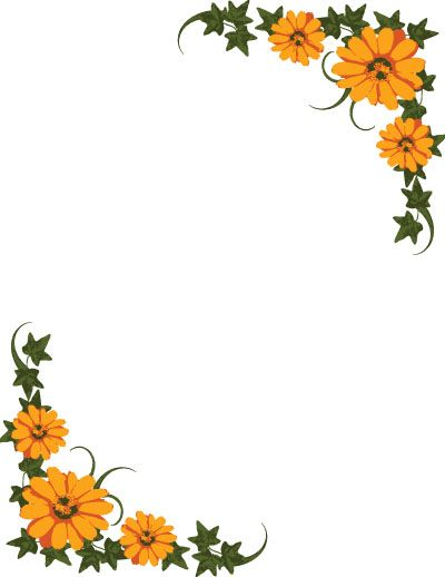 55d4c72138f Free Flower Clip Art Borders