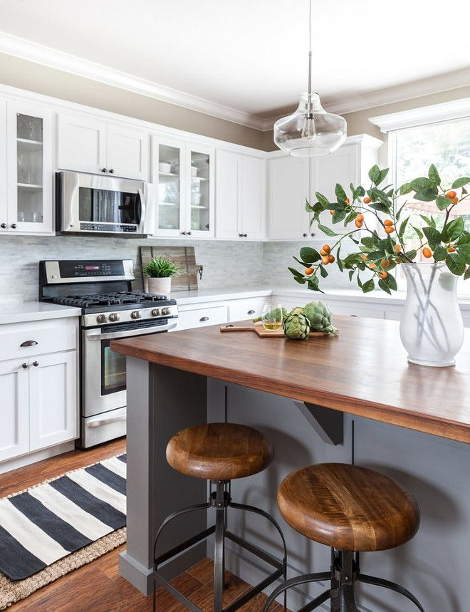 Butcher block island | Kitchens in 2019 | Kitchen island ...