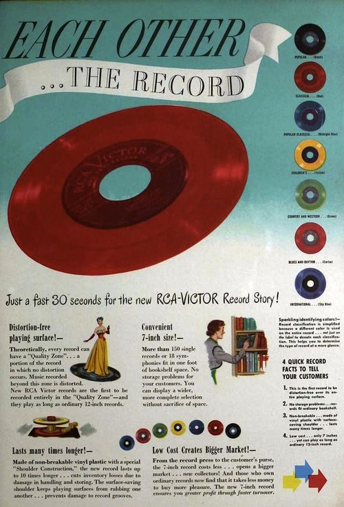 Rca Victor 45rpm Portable Record Player 1949 Vinyl Records Record Players Records