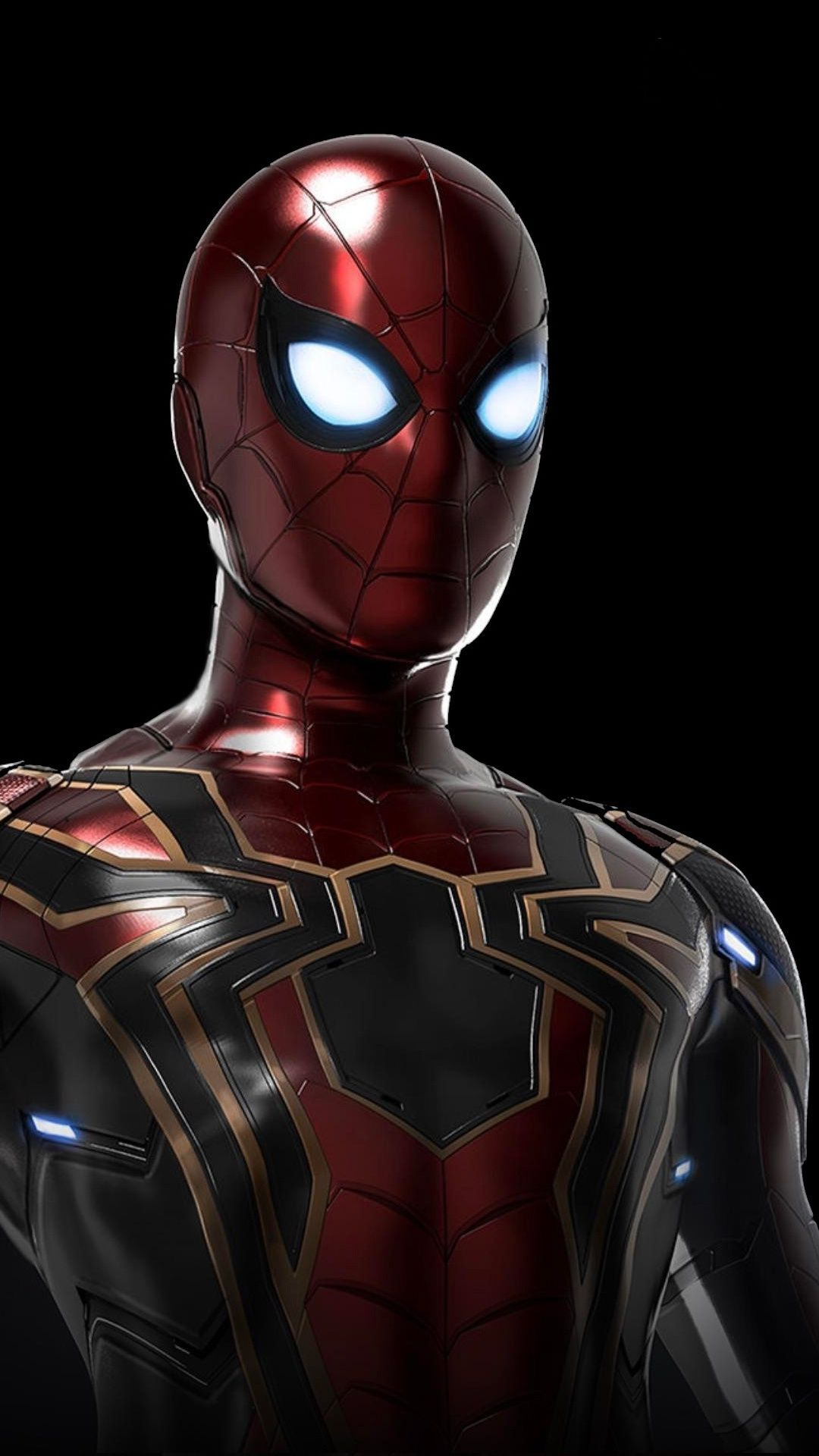 Iron Spider Avengers Infinity War Movie Artwork 1080x1920