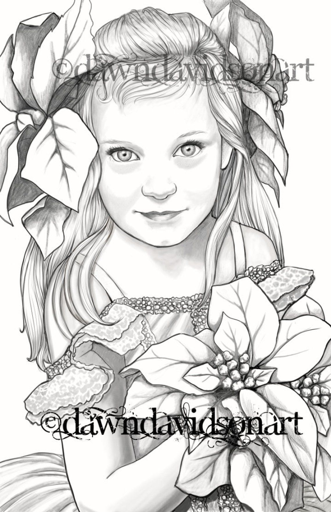 This is an image of Free Printable Grayscale Coloring Pages intended for mermaid