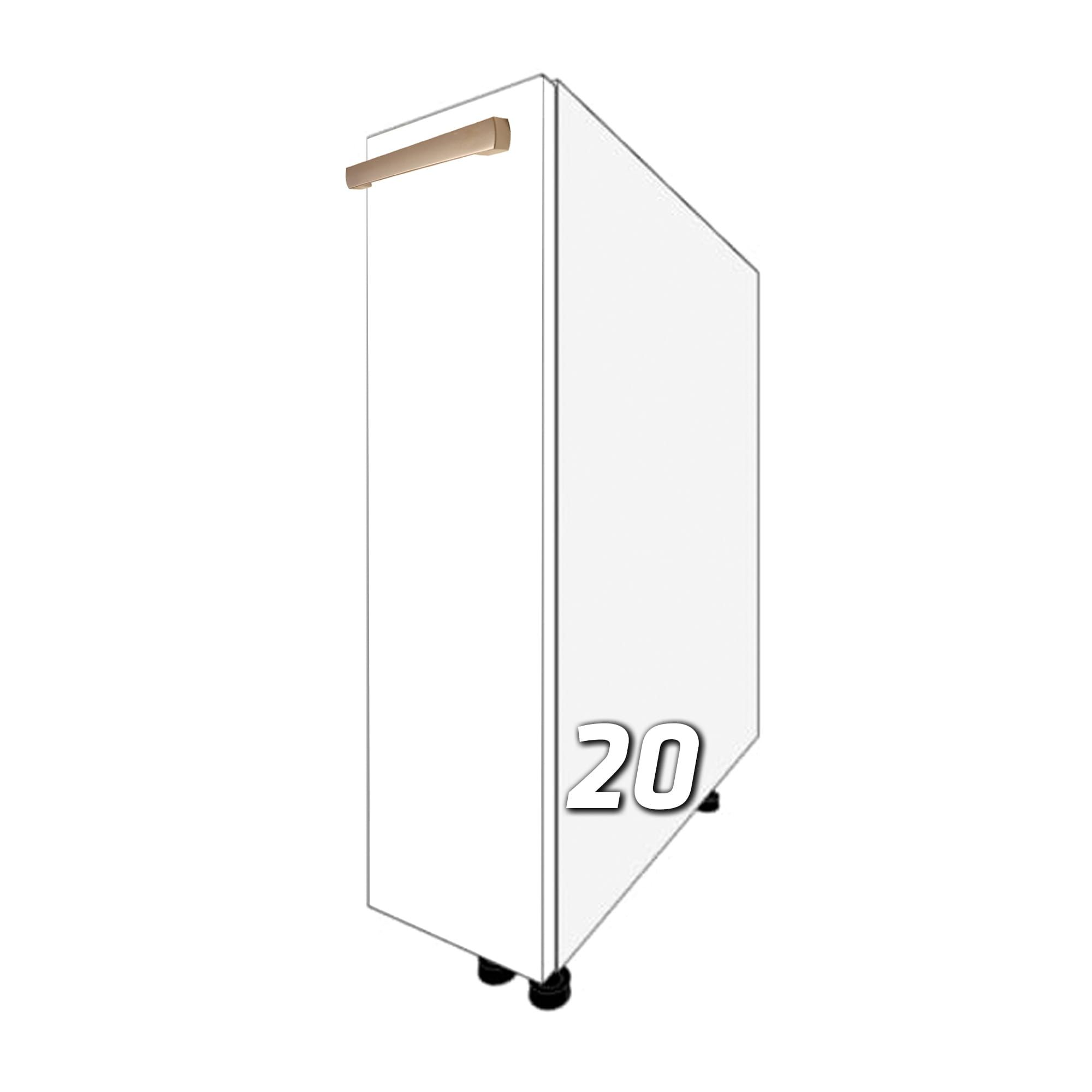 GLOSS One-drawer standing cargo cabinet 20cm (front color …