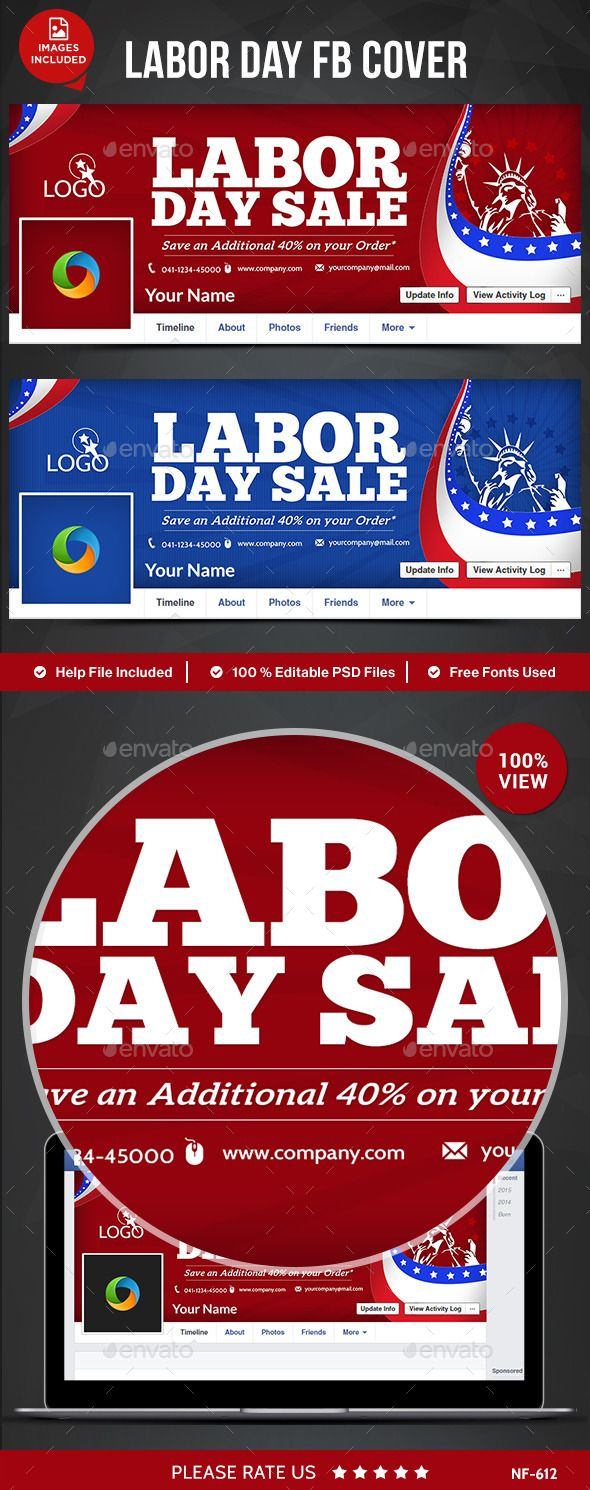 Labor Day Sale Facebook Cover Facebook timeline covers