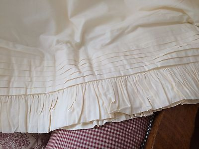 SHABBY-QUEEN-SIZE-CHIC-IVORY-BEDSKIRT-DUST-RUFFLE-SIMPLY-BEAUTIFUL-100-C0TT0N