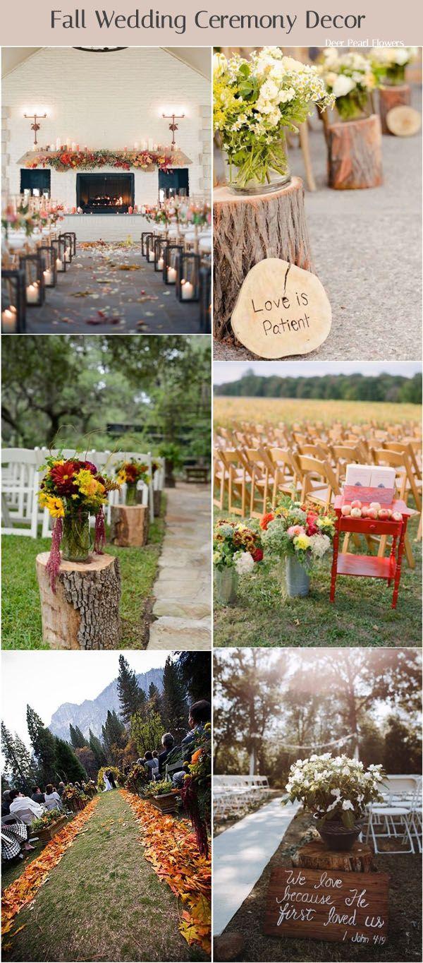 Fall wedding decor 2018   of the Best Fall Wedding Ideas for   Pinterest  Weddings