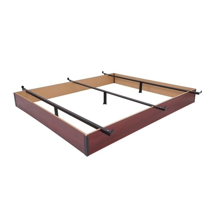 Rize Cherry Wood Panel Bed Base 7 5 Inch Height Bed Base Wood Bed Frame Cherry Wood Floors