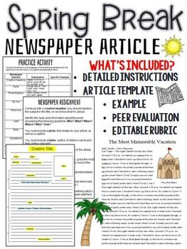 How to Write a Newspaper Article – Tips