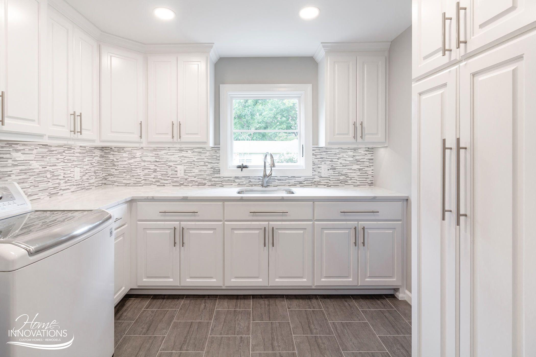 Laundry Room Tulsa Oklahoma Paint Cabinets White Home White Tile Backsplash