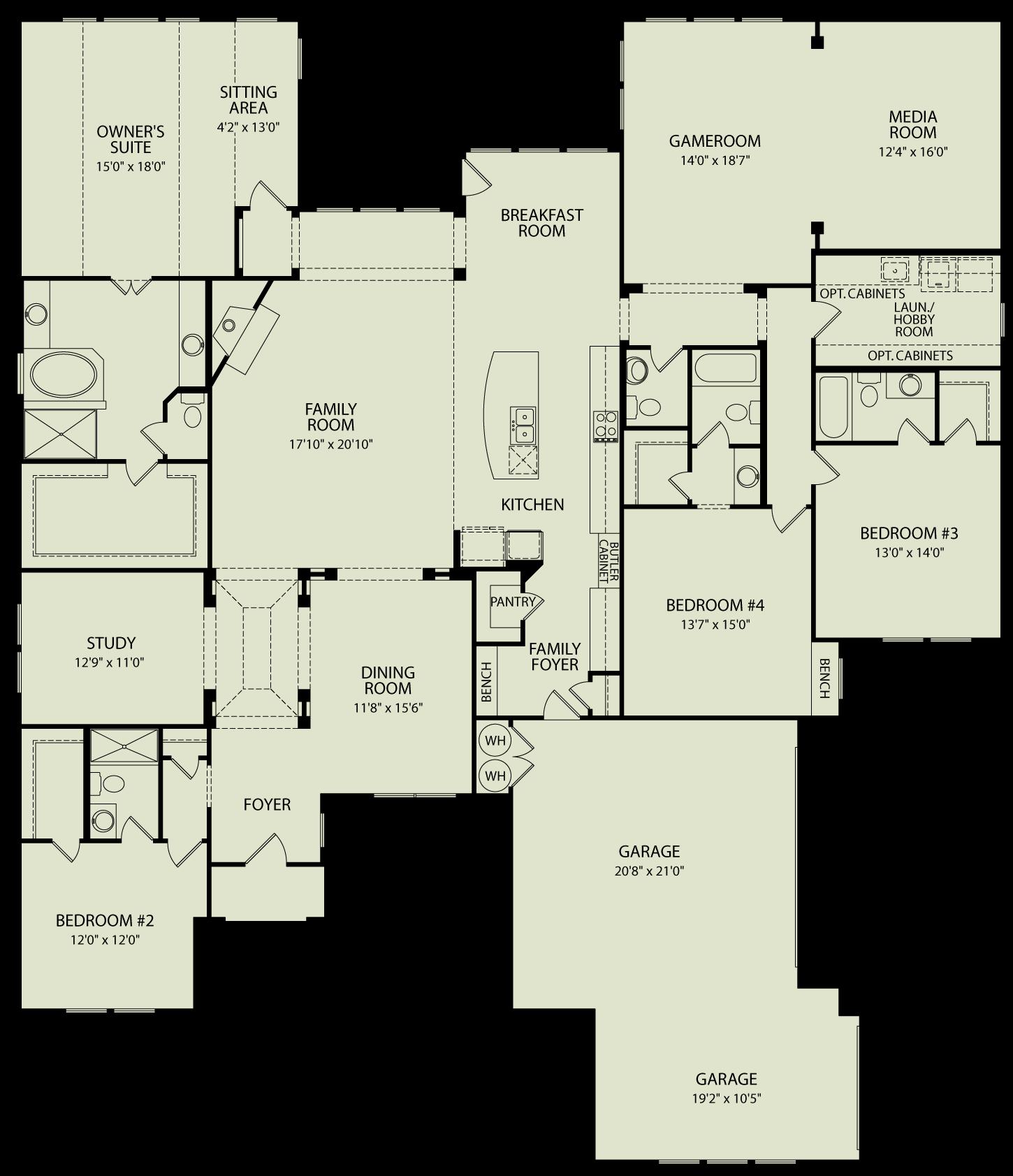 Lauren Iii 125 Drees Homes Interactive Floor Plans Custom Homes Without The Custom Price Open Floor House Plans Custom Floor Plans Floor Plans