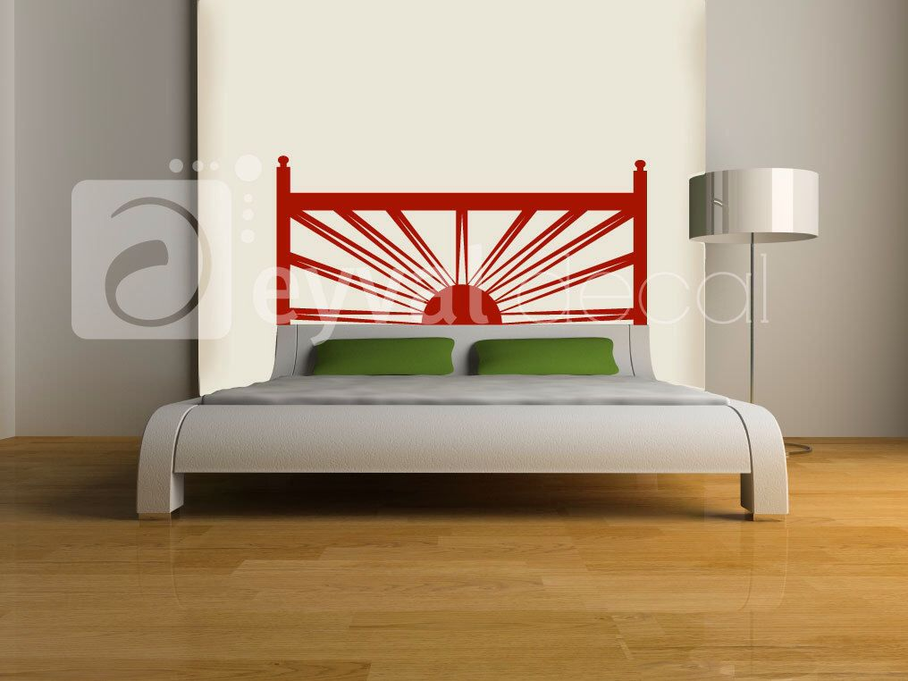 Sunrise Sunset Headboard Vinyl Wall Decal- sticker art, room, home decor Double Full Queen Bed by EyvalDecal on Etsy https://www.etsy.com/listing/129897896/sunrise-sunset-headboard-vinyl-wall