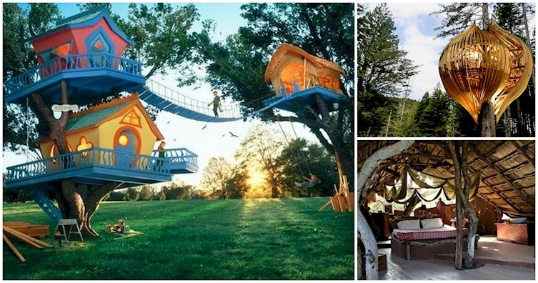 12 Awesome Tree Houses For The Inner Child In All Of Us