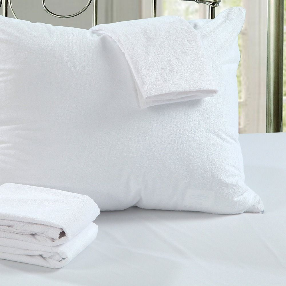 Bed Bug Pillow Cover Unique Lfh 50X70Cm Terry Waterproof Pillow Protector For Bed Bug Proof Decorating Inspiration