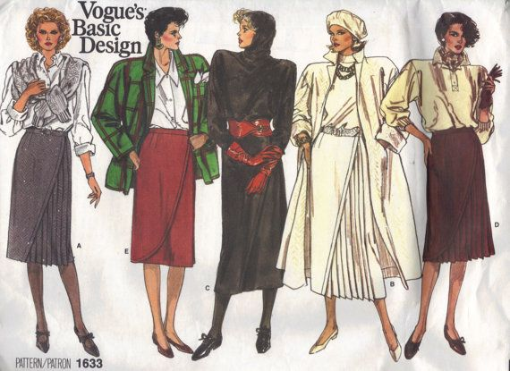 Vogue Basic Design 1980s Sewing Pattern by AdeleBeeAnnPatterns