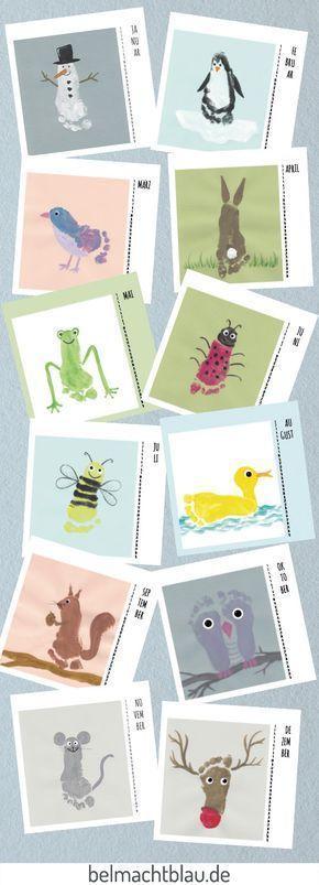 Ein Kalender mit Fußabdrücken - die besten Ideen und Tipps | Craft ...
