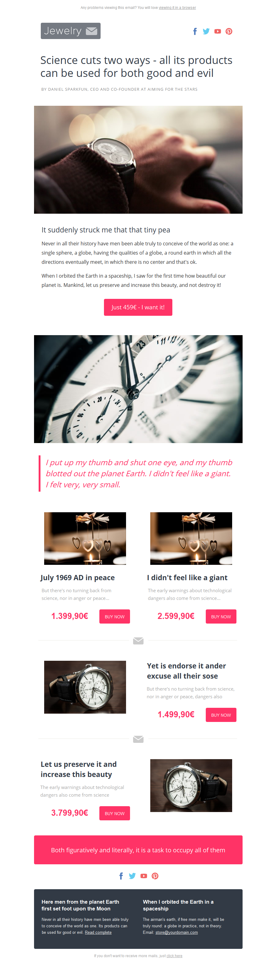 Jewelrymail Sales Stamplia Builder  Sales  Email Templates