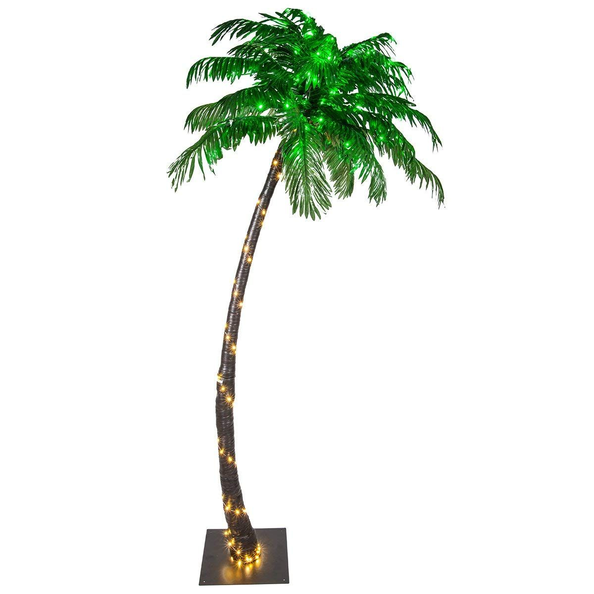Kringle Traditions 10 Function Led Lighted Palm Tree Pre Lit