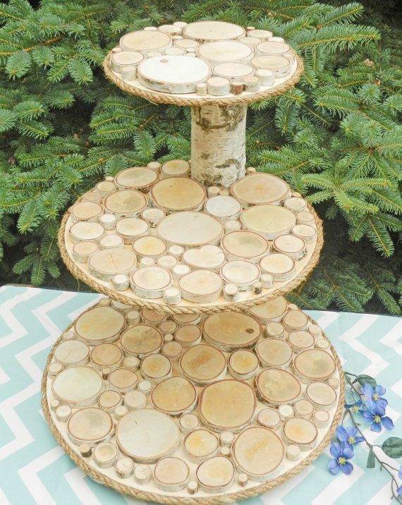 3-Tier Cupcake Stand, Cake Stand, Wedding Cake Stand by TheCreativeQ ...