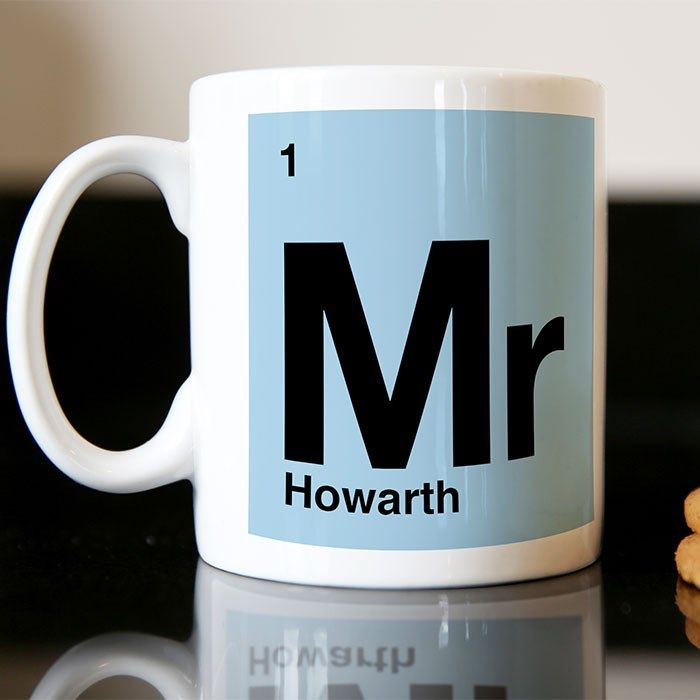 personalised mug best teacher periodic table mugs by getting personal