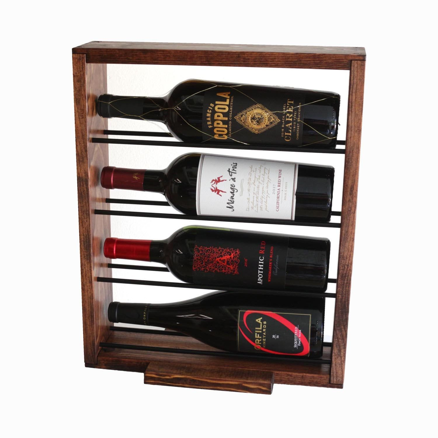 Countertop Horizontal Wine Rack Tabletop Wine Bottle Holder Etsy