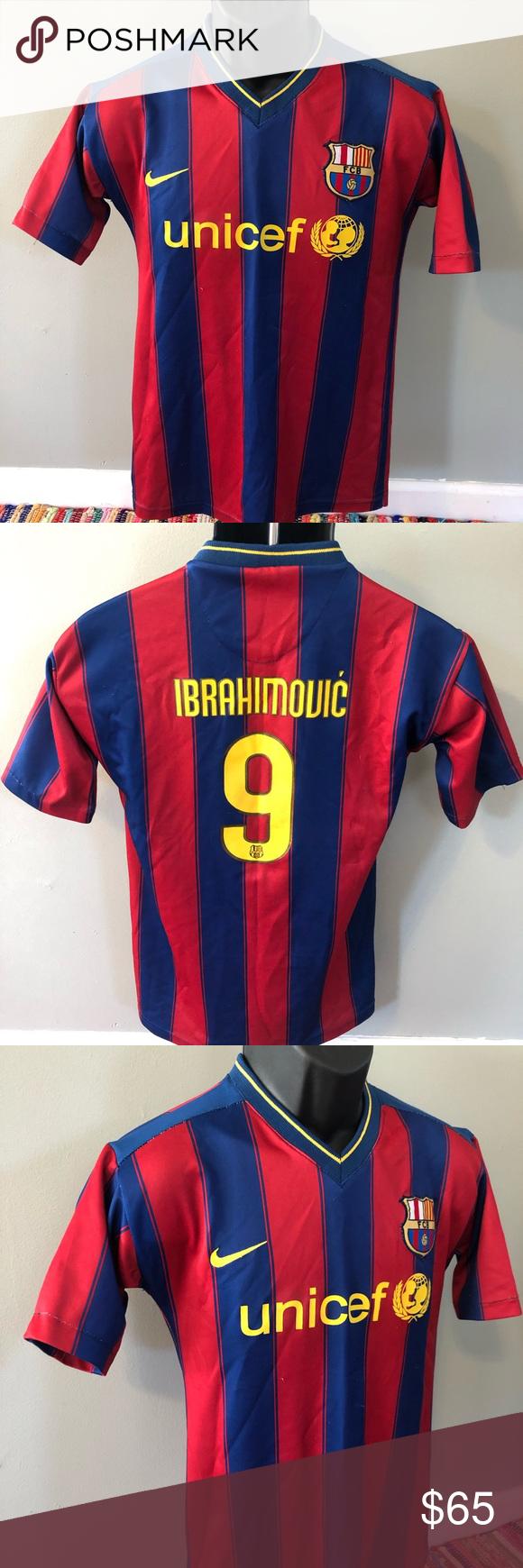 quality design 48fa6 9d9cf Nike FC Barcelona Soccer Jersey Ibrahimovic 9 FCB Nike ...