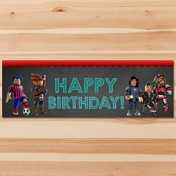 Roblox Happy Birthday Banner 1x 3 Feet Chalkboard Roblox - how to change ur birthday on roblox