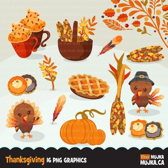 Thanksgiving Clipart Gobble Gobble Turkey Apple Pie Pumpkin Etsy Thanksgiving Graphics Clip Art Holiday Illustrations