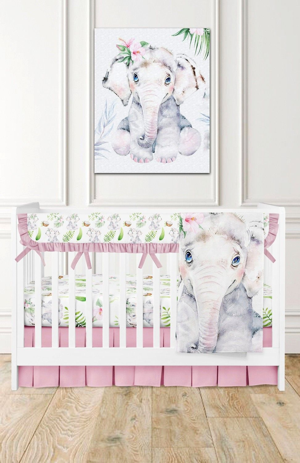 Elephant Crib Bedding Set Elephant Crib Sheets Safari Animals