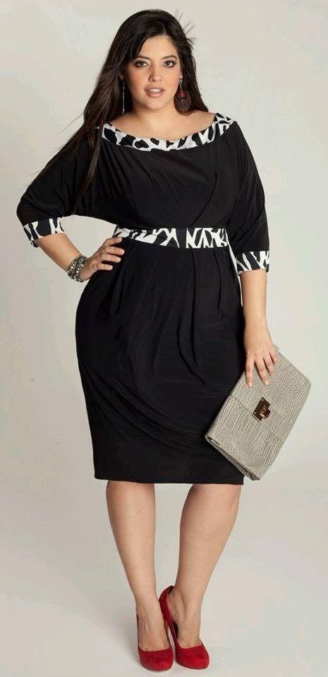 Vestidos Casuales Formales De Vestir Tallas Plus Grandes Vestido Para Gorditas Moda Para Gorditas Ropa Para Gorditos
