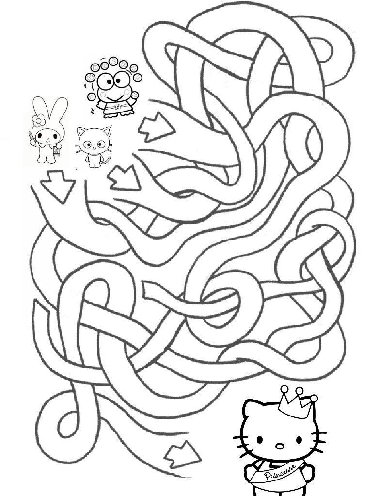 HELLO KITTY COLORING PAGES | outline pics | Pinterest | Activities ...