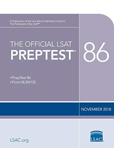 Read eBooks The Official LSAT PrepTest 86 Nov 2018 LSAT ...