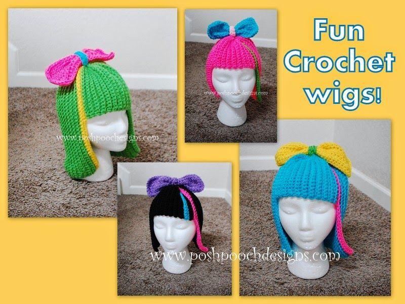 Fun Wig Free Crochet Pattern | Gorros