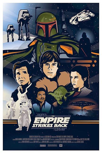Galaxy Fantasy: Carteles de la primera trilogía de Star Wars realizados por Brad Bishop