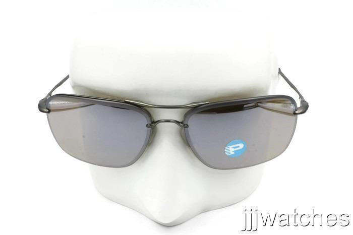 80036d2d20a New Oakley Tailhook Titanium Iridium Polarized Rectangular Sunglasses  OO4087 07 (eBay Link)