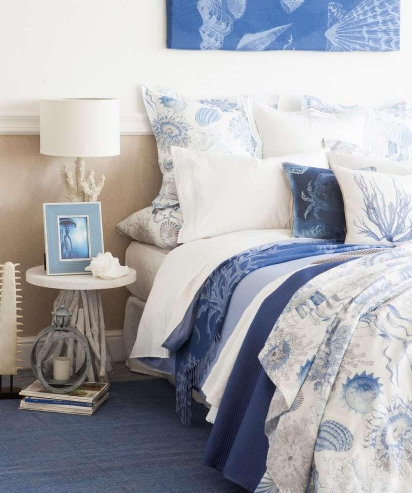 Camera da letto stile marina - Biancheria letto dal sapore marine ...