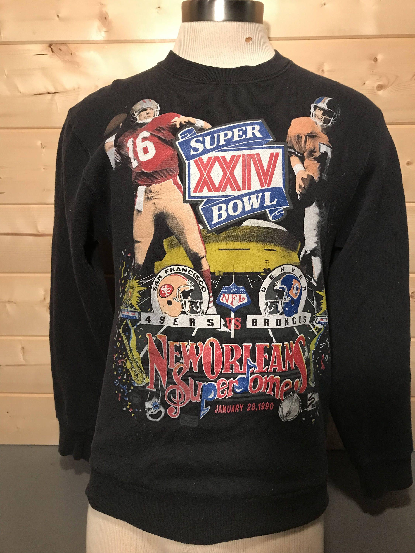 8e501319788 Vintage 1980 s San Francisco Denver Broncos Joe Montana John Elway Super  Bowl 50 50 T-Shirt by 413productions on Etsy