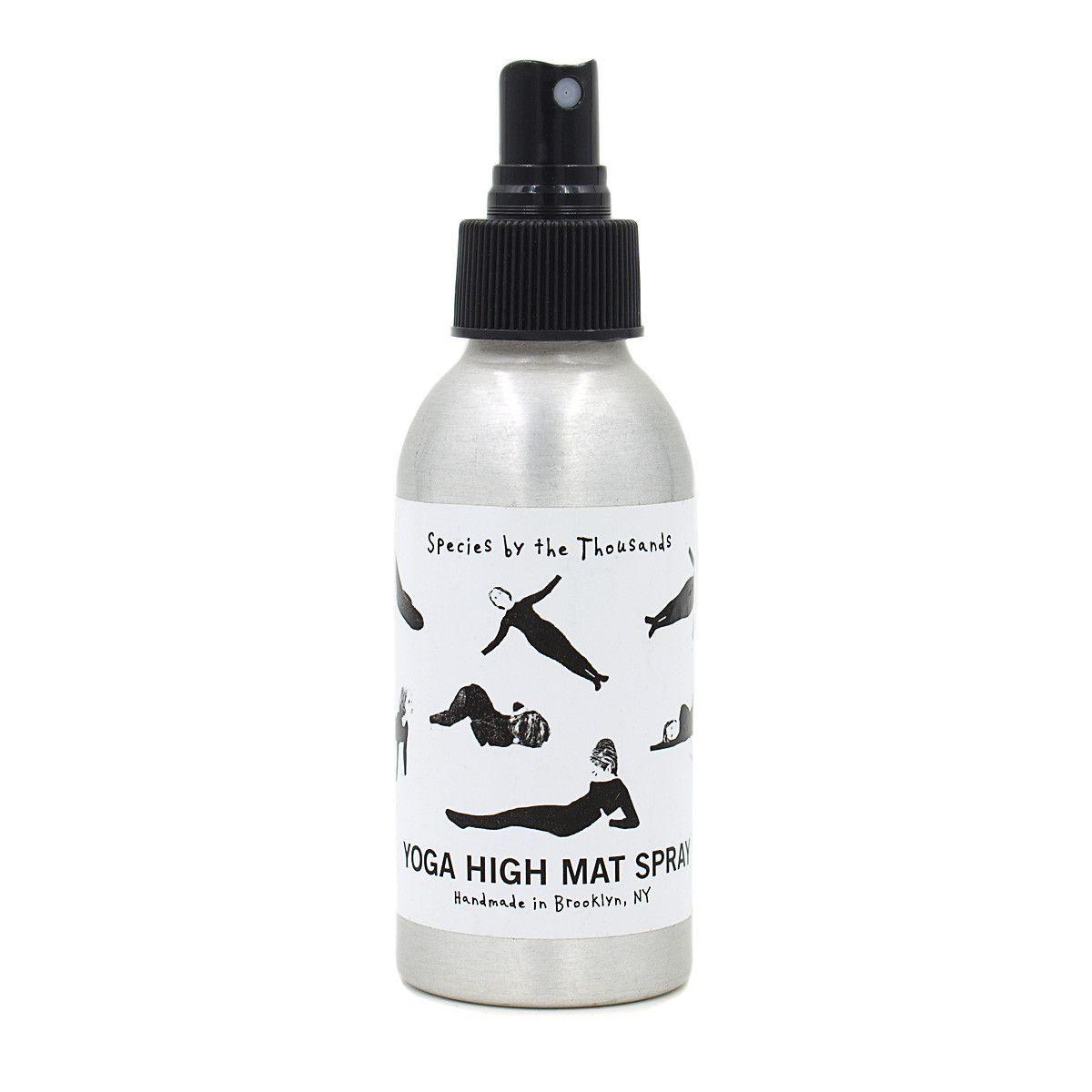 Yoga High Mat Spray Yoga mat spray, Amber glass bottles