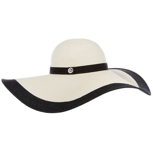 f9fb51ce6af Designer ivory floppy brim hat ( 34) ❤ liked on Polyvore featuring  accessories