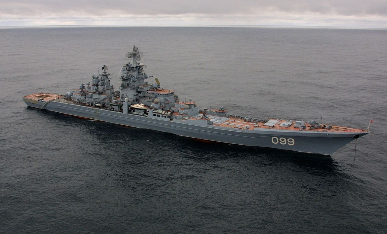Russian Navy Kirov-class battlecruiser Peter the Great ...