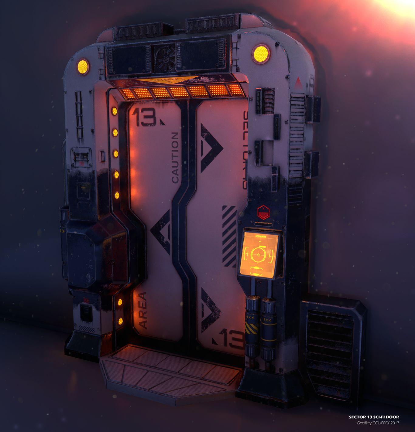 Sci Fi Door Geoffreycouppey Cgsociety Sci Fi Props Sci Fi Concept Art Sci Fi Environment