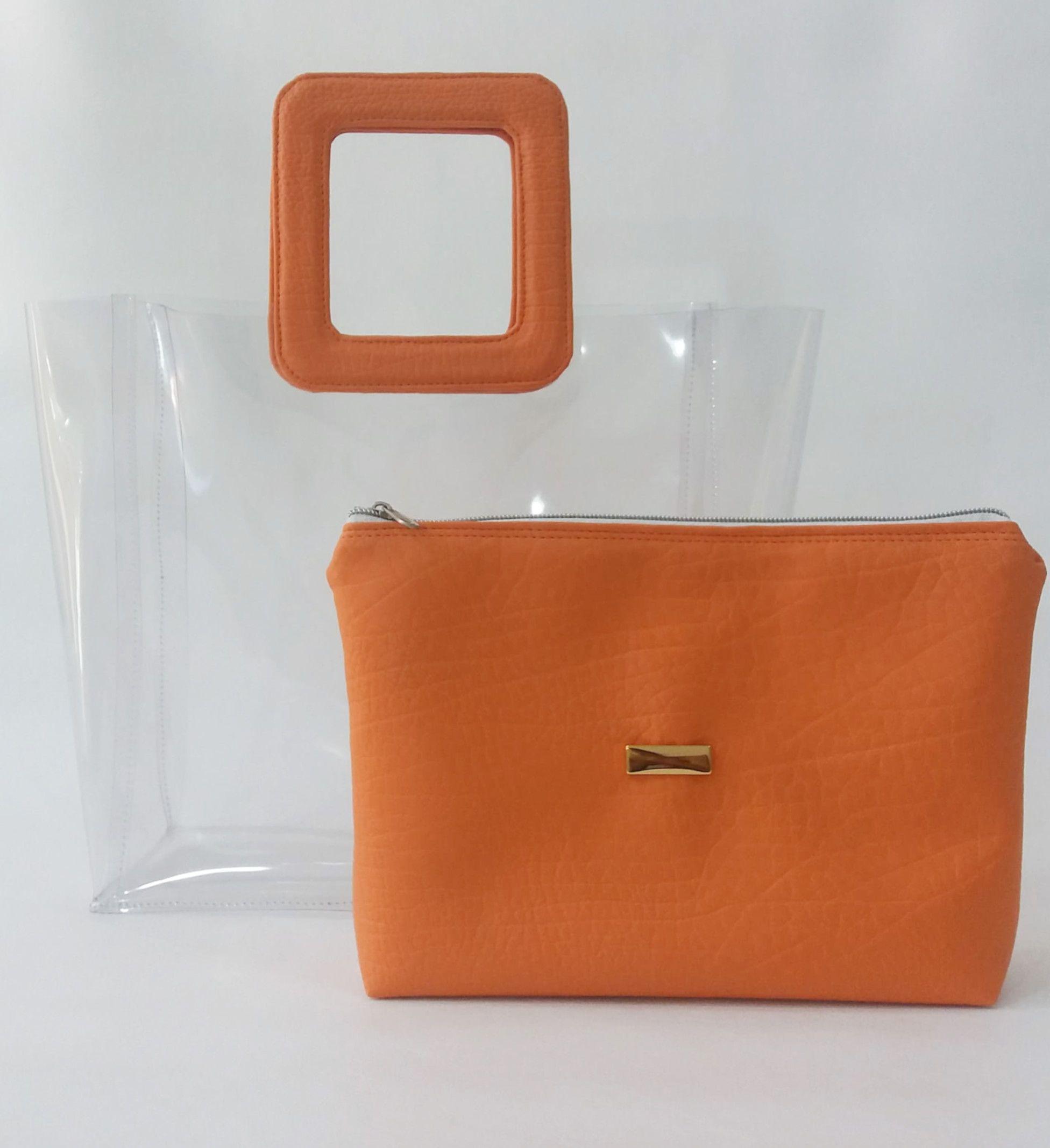 62853270e56 Bolsa transparente Bolsa super elegante