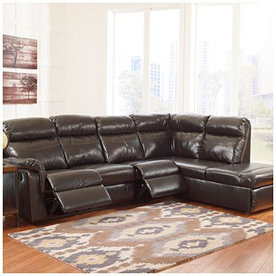 Best Signature Design By Ashley® Dream Bonded Leather Match 2 Piece Reclining Sectional At Big 400 x 300