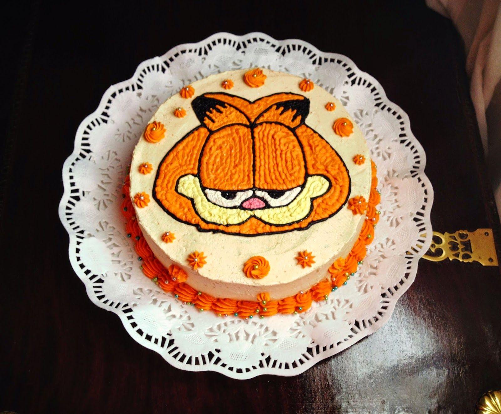 Garfield Cake | pasteles para niños | Pinterest