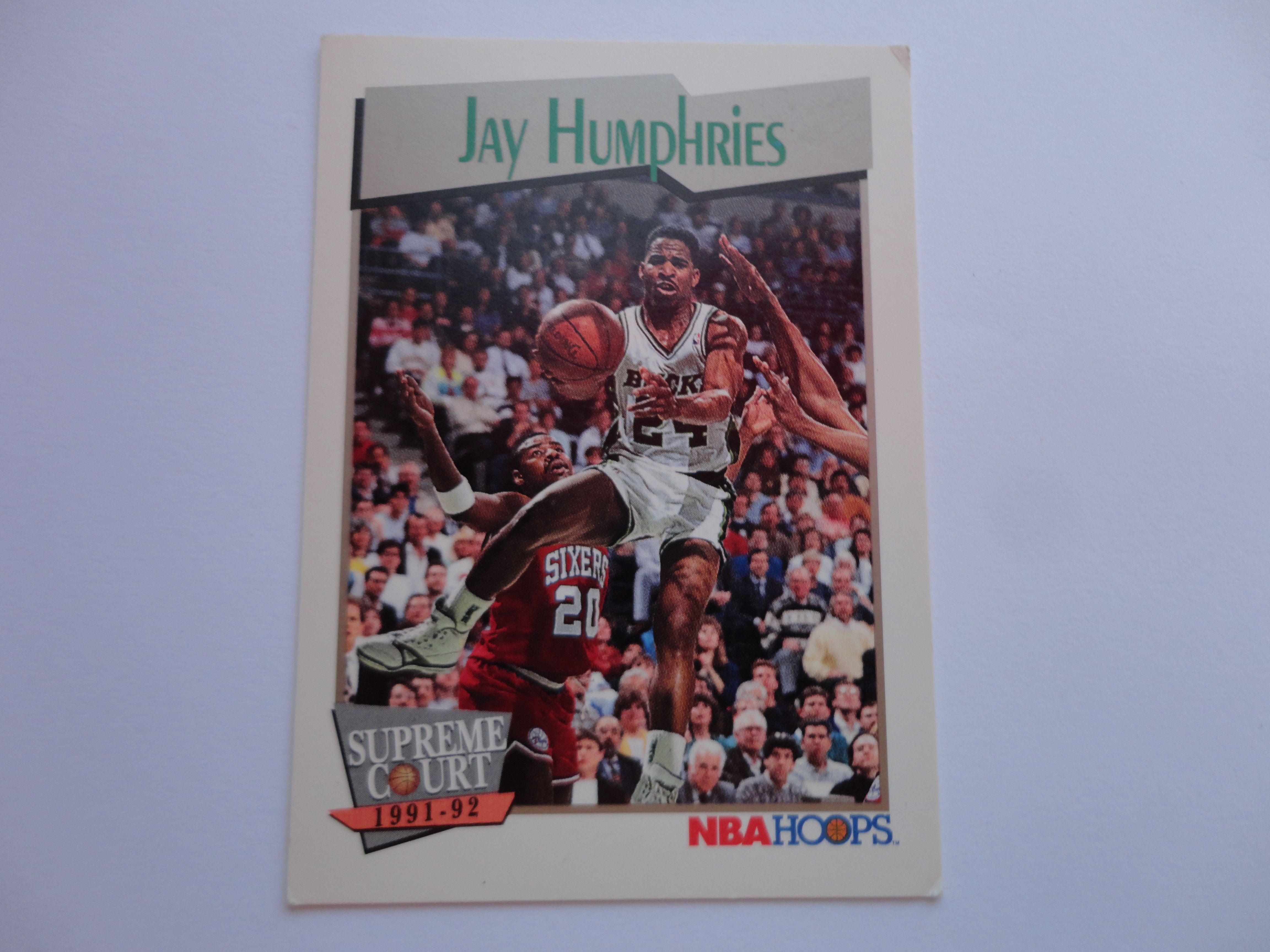 Jay Humphries NBA Hoops Supreme Court 1991 92 Basketball