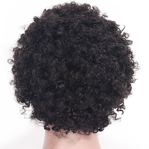 Photo of Human Hair Lace Front Wig style Brazilian Hair Curly Kinky C…